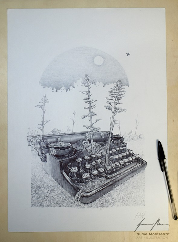 Original: ballpoint pen on paper - 42  29.7 cm.