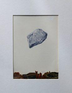 Montaña: 30x21cm. - Bolígrafo y hojas secas sobre papel de 100gr. (2016)