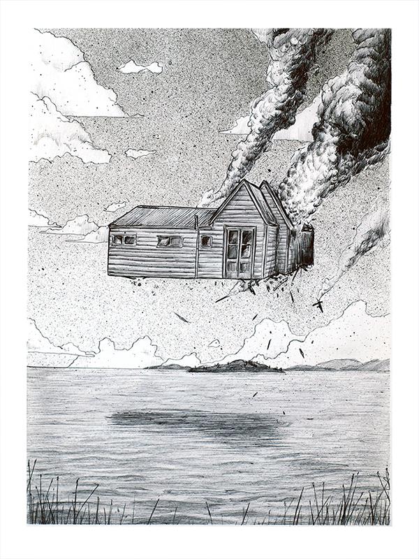 CASA - DISPONIBLE / AVAILABLE Bolígrafo sobre papel 29.7x42cm.